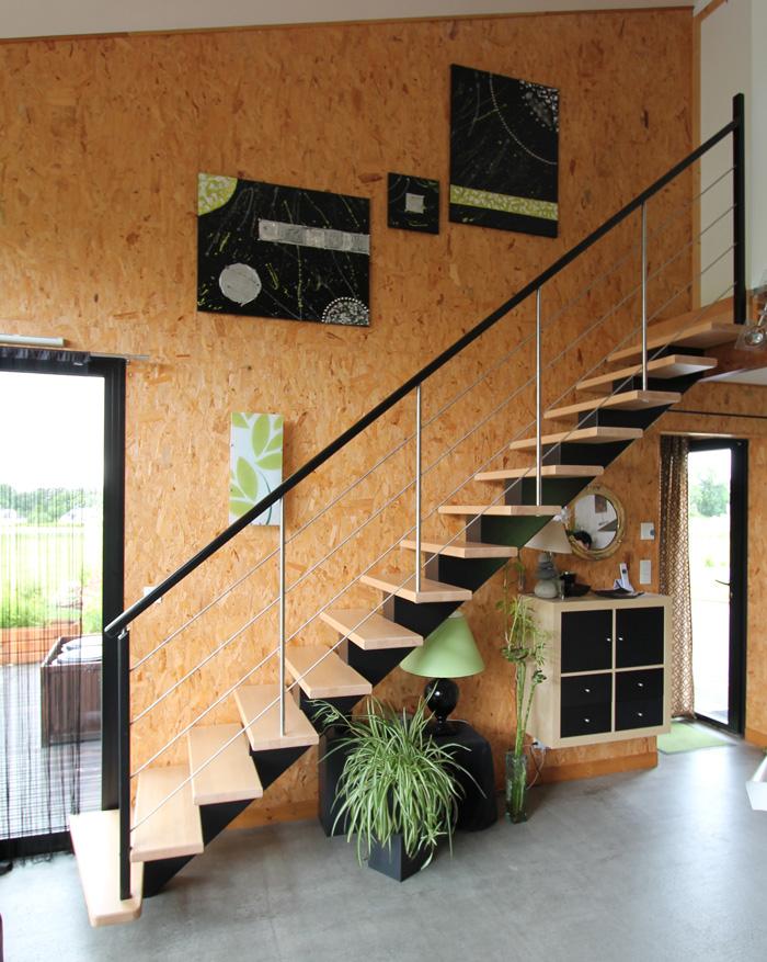 beautiful escalier bois le bailleron with escaliers potier. Black Bedroom Furniture Sets. Home Design Ideas