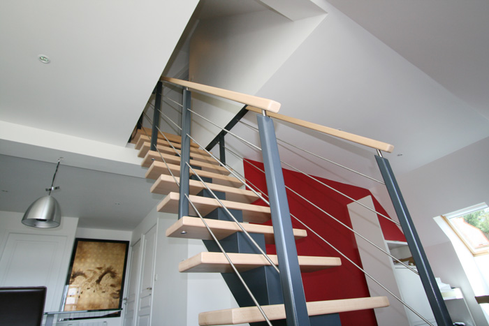 escalier tendance peinture speciale escalier avec With beautiful peindre des marches d escalier en bois 2 escalier hetre et blanc erics lux blog