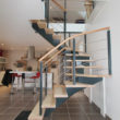 escalier bois et métal - île Dervenn