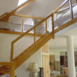 escalier bois - île Gavrinis
