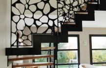 île Lannic acier, escalier moderne
