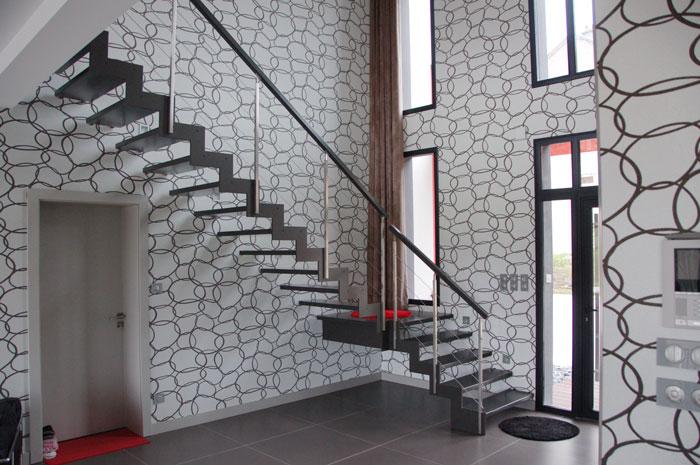 île Lannic inox, Escalier Moderne par Escalier Potier