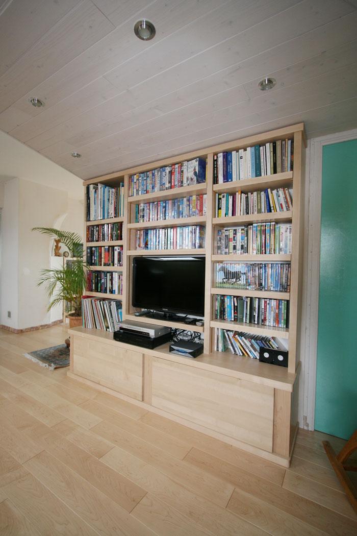 Escaliers biblioth ques - Escalier avec rangement integre ...