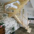 escalier bois - île Bailleron