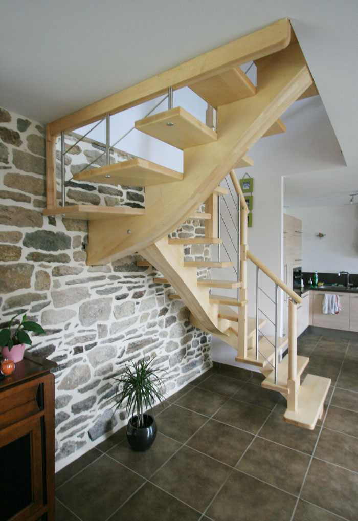 stunning escalier bois le bailleron with escaliers potier. Black Bedroom Furniture Sets. Home Design Ideas