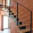 escalier métal et bois - île Brannec