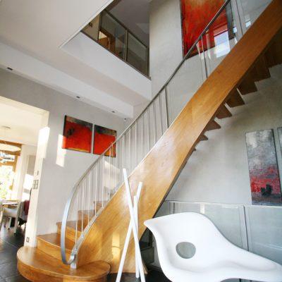 escalier design bois et métal