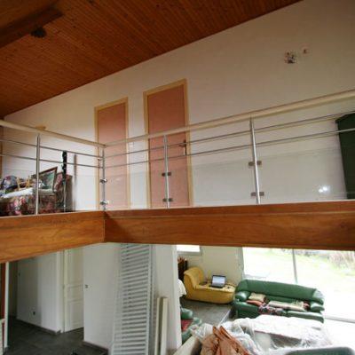 relookage d'un escalier bois naturel